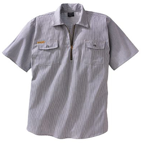 Prison Blues Short Sleeve Hickory Shirt 4061111