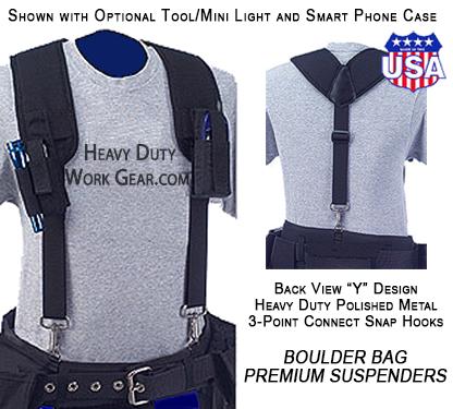 Boulder Bag Tool Belt Premium Suspenders 527