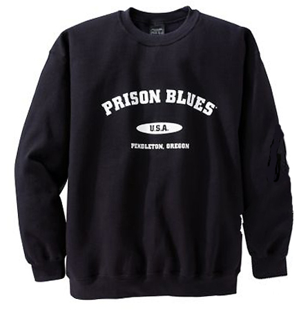 Prison Blues Varsity Sweatshirt Color Black 3814013